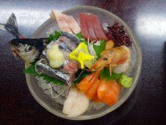 Seafood representing the Sanriku area