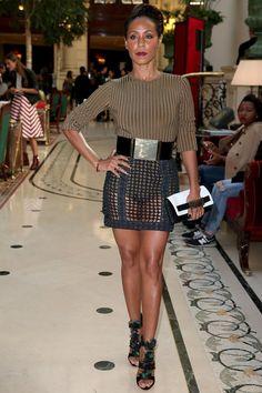 Pin for Later: Les Célébrités Se Bousculent à la Fashion Week de Paris Jada Pinkett Smith Au défilé Balmain.