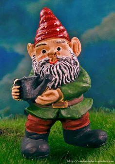 Bruno, A Tiny Garden Gnome For Your Miniature Fairy Gardens.
