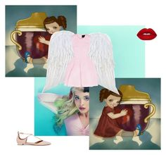 """""""3) sippy cup"""" by queenanything ❤ liked on Polyvore featuring Simone Rocha, Lime Crime and Aquazzura"""
