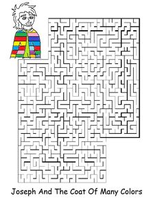 Joseph and the coat of many colors - Maze