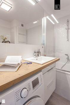 Zielona Klecina_04 - Mała łazienka w bloku bez okna, styl nowoczesny - zdjęcie od PRACOWNIE WNĘTRZ KODO
