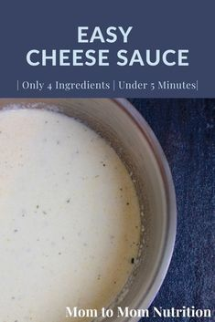 Easy cheese sauce is made with just 4 simple ingredients and is ready in less than 5 minutes! Enjoy with chicken, pasta, veggies, and more! Cheese Sauce For Veggies, Easy Cheese, Nutrition Articles, Healthy Side Dishes, Spice Blends, Vegetarian Cheese, Chicken Pasta, Kid Friendly Meals, 4 Ingredients