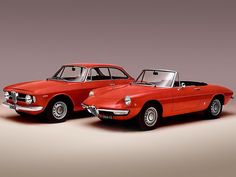 Alfa Romeo GT & Spider | Designed by Bertone and Pininfarina.