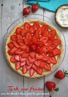 Tarte aux fraises et au chocolat blanc, par le Blogdechataigne.fr