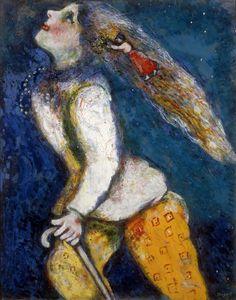 Marc CHAGALL Jeune fille en marche Date: ca. 1927-1928