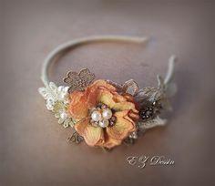 Vintage hair accessories. Decorative Applique . by EZDessin