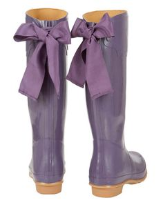purple rain boots! for the purple rain at my purple house