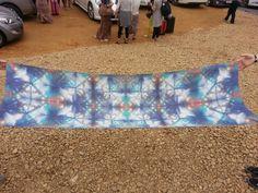 Blue Crystal Hand dyed silk by ZSJ Silks