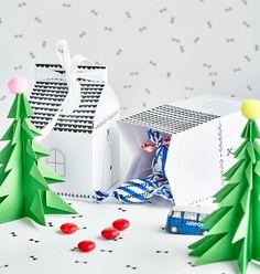 Ihanat itse tehdyt lahjat ja etiketit | Pop up kemut Diy Christmas Gifts, Pop Up, Diy Gifts, Container, Ideas, Popup, Hand Made Gifts, Diy Christmas Presents, Christmas Diy Gifts