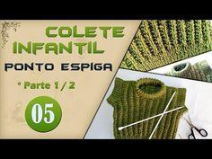 Colete infantil - Parte 1 - YouTube Crochet, 1, Youtube, Videos, Blog, Manual, Kids Coats, Knitting Sweaters, Knitting For Kids