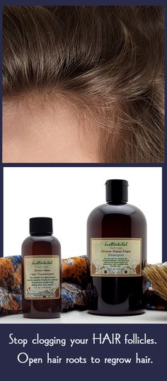 Grow New Hair Treatment. Encourage scalp to grow new hair faster. This nutrient rich 100% natural formula naturally sustains follicles for continued renewal and growth of healthy hair. Chemicals in hair products, excessive styling methods, stress, hormonal changes, medicines and nutrition are some factors that can cause hair follicles to go dormant and stop growing. This formula helps your follicles remain healthy.