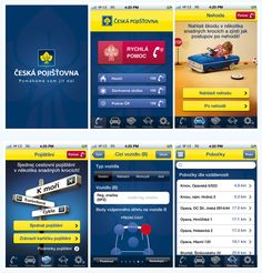 Česká Pojištovna - user interface design - iPhone mobile application - Screens