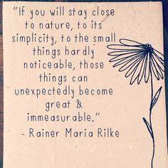 Rainer Maria Rilke on nature.