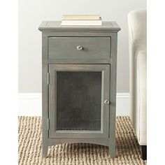 Safavieh American Home Collection Ziva French Grey End Table