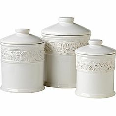 @Overstock - Keep food fresh and add elegance to your kitchen with this canister set from Pfaltzgraff. Each canister features a tight plastic seal that will keep your food and baking supplies freshhttp://www.overstock.com/Home-Garden/Pfaltzgraff-Country-Cupboard-3-piece-Canister-Set/4755303/product.html?CID=214117 $47.99
