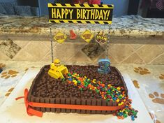 rubble cake- Aiden wants this for his party Harry Birthday, 4th Birthday Cakes, 3rd Birthday Parties, Birthday Fun, Birthday Ideas, Cupcakes, Cupcake Cakes, Torta Paw Patrol, Rubble Paw Patrol Cake
