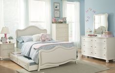 South Shore Upholstered Panel Bed