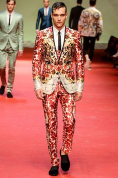 Dolce  Gabbana Spring 2015 Menswear Collection Slideshow on Style.com