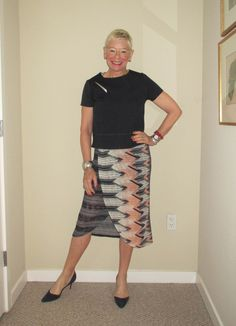 What Jeanne Wore: Faux Wrap Skirt - Two Take on Style