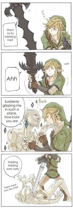 Sorry Ghirahim. Link doesn't think that's funny.