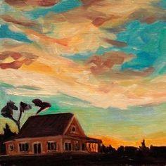 Island Cottage Sunrise - Elizabeth fraser