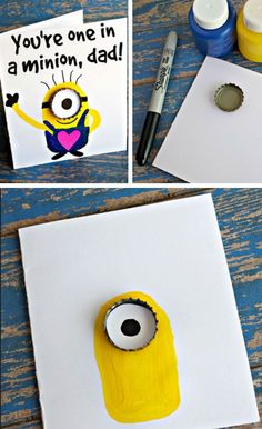 hostingecologico.... ---- You're One in a Minion | Easy Fathers Day Cards for Kids to Make