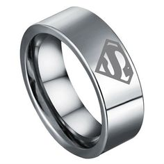 superman wedding bands yeah my man would of been wearing this - Superman Wedding Ring