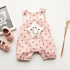 """Adorable Pink Star Dot Romper Now 45% OFF for Sale Use Code """"10PATPAT"""" to Get an EXTRA 10% OFF buy now>> https://www.patpat.com?adlk_id=44"""