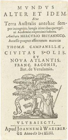 Titel en titelvignet met Minerva staand bij boom met banderol: Et flore et fructus, Cornelis van Dalen (I), 1643