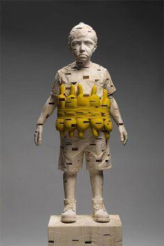 Gehard Demetz - My shadow can walk on water, 2012, 168 x 52 x 32 cm