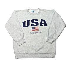 Vintage 90s USA Washington, D.C. Crewneck Sweatshirt Mens Size Small $35.00