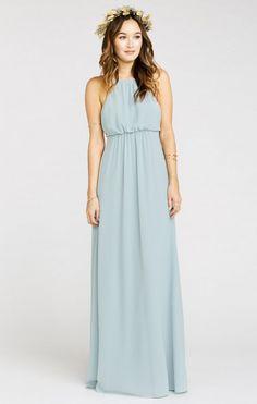 Amanda Maxi Dress ~ Steel Blue Chiffon   Show Me Your MuMu