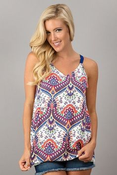 Carson Top - Sugar Water Lemons Boutique  Click to shop - Summer Top - Bright Colors - Fun, Strappy Tops