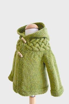 Stricken Baby :Top-down Baby and Children Cable Yoke Jacket pattern by Kyoko Nakayoshi , Knitting For Kids, Baby Knitting Patterns, Baby Patterns, Knitting Projects, Vogue Patterns, Vintage Patterns, Vintage Sewing, Sewing Patterns, Jacket Pattern