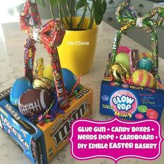 Diy edible candy box easter basket tutorial pinterest inspired diy edible easter baskets photo courtesy of negle Images