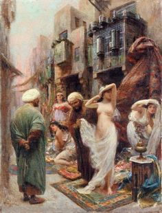 Anonimo, il mercato delle schiave