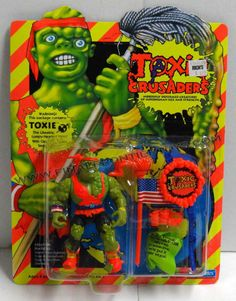 Toxic Crusaders Toxie mint in card 90s Toys, Retro Toys, Vintage Toys, Batman Action Figures, Lifelike Dolls, 80s Kids, How To Be Likeable, Childhood Toys, Boy Doll