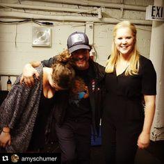 Eddie Vedder and Amy Schumer from Pearl Jam's Instagram #trainwreckcomedytour #roadmanager #eddievedder