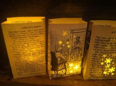 Christmas Decorations - A Christmas Carol Christmas Luminaries Christmas Decor Christmas Tree Festival, Christmas Carol Book, English Christmas, Charlie Brown Christmas, Office Christmas, Christmas Tea, Victorian Christmas, Christmas Signs, Christmas Party Decorations