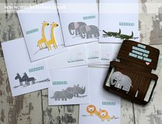 Noah's Ark Notecard set using Zoo Babies from Stampin' Up!