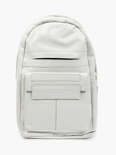 Orbio Via White Leather Backpack | Omtura | NOT JUST A LABEL | BAG ...