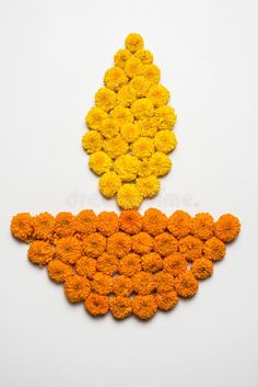 Flower Rangoli For Diwali Or Pongal Or Onam Made Using Marigold Or Zendu Flowers And Red Rose Petals Over White Background With Di Stock Image - Image of ceremony, india: 99602197 - Rangoli Designs Flower, Rangoli Border Designs, Colorful Rangoli Designs, Rangoli Ideas, Rangoli Designs Diwali, Rangoli Designs Images, Diwali Rangoli, Flower Rangoli, Flower Designs