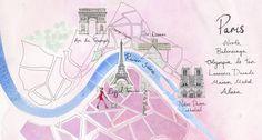 3 mapas de 3 ciudades del mundo: London, París, New York   Pepita Pancracia