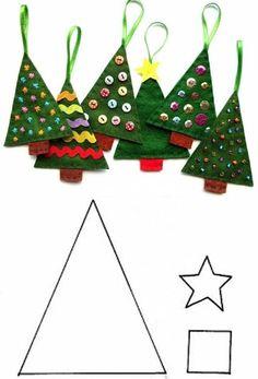 Diy Christmas Decorations Easy, Felt Christmas Ornaments, Christmas Angels, Christmas Art, Christmas Projects, Felt Crafts, Handmade Christmas, Holiday Crafts, Christmas Holidays