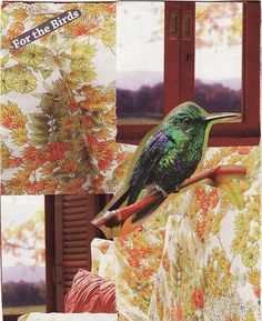FOR THE BIRDS paper collage art for framing or notecard by MaterialWhirlCollage, $4.99