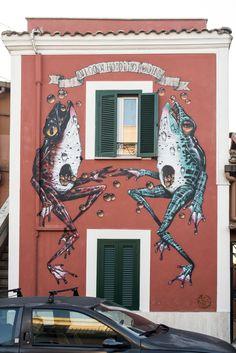 StreetArt Roma: Senza Titolo   Veks Van Hillik   2014   Zona: Quadraro   #art #streetart #roma