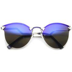 Modern Shield Lens Lightning Step Temple Mirror Lens Sunglasses A080 e15171f0f4c