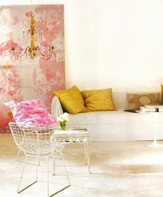 bits of pink and gold. www.homegoods.com/stylescope