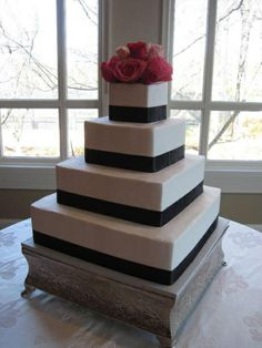 black and white square wedding cake with red roses 1000 images about wedding cake on square 11841